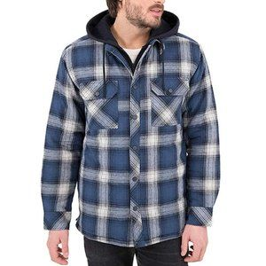 Boston Traders Men's Plaid Flannel Shirt Jacket